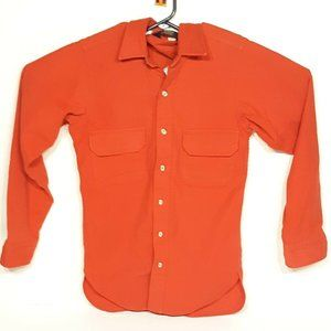 Vintage Red Woolrich Button-down Long-sleeve USA